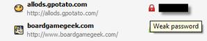 sticky password weak passwordr