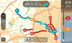tomtom go 2d traffic screen jan 2014