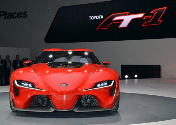 Toyota FT-1 concept trades dials and gauges for fighter-jet ...