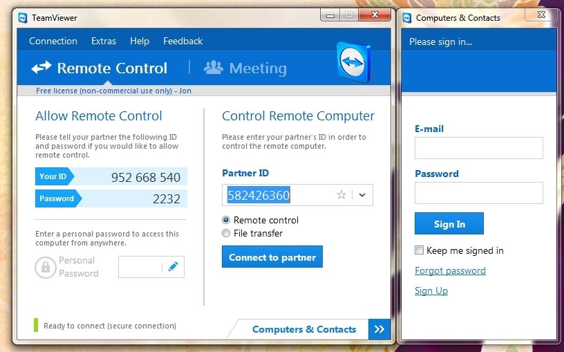 free computer to computer remote access
