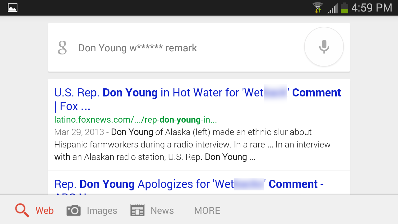 These are the filthy words Google voice search doesn't want to hear