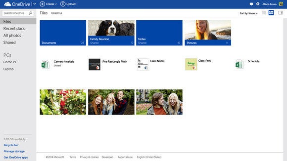 onedrive tileview