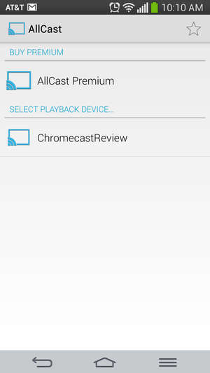 Beaming your photos and videos in AllCast is as easy as selecting a