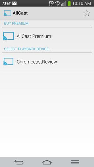 allcast chromecast