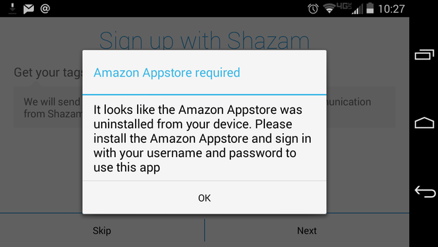 amazon appstore required