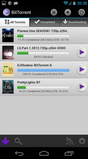 bittorrent s android app updates make a cinch greenbot