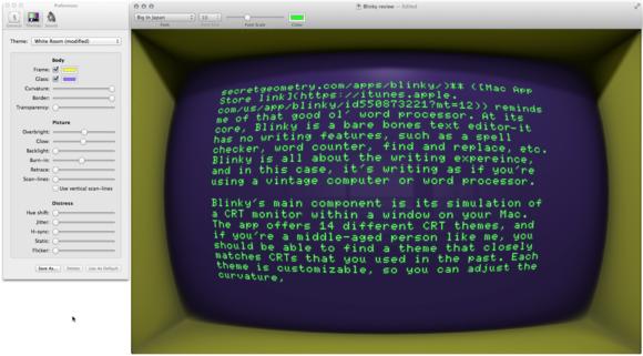 Blinky screen preferences