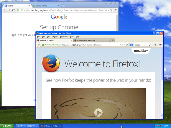 chrome and firefox are still supported on windows xp
