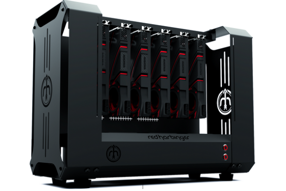 Meet DopaMine, the 6-GPU case designed for Bitcoin miners and PC