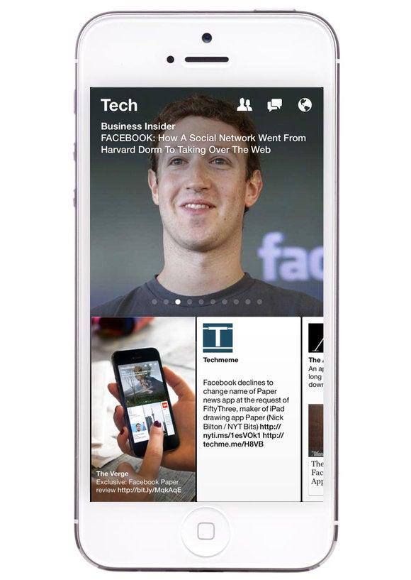 facebook paper iphone