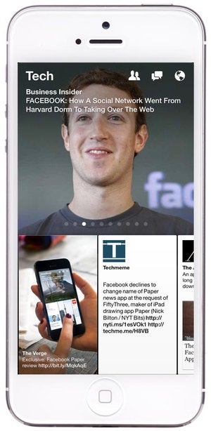 facebook paper iphone