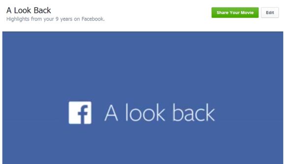 facebook look back edit