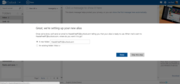 how to create email alias in outlook