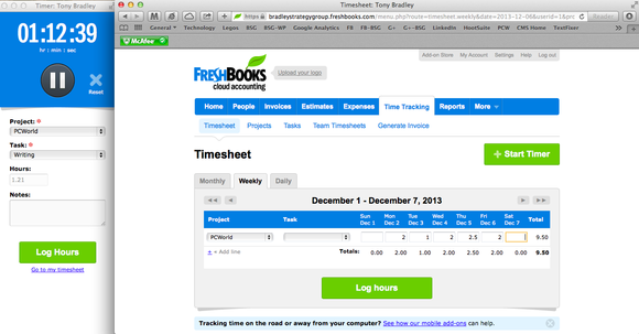 freshbooks screen