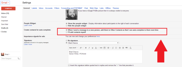 gmail contacts automatic