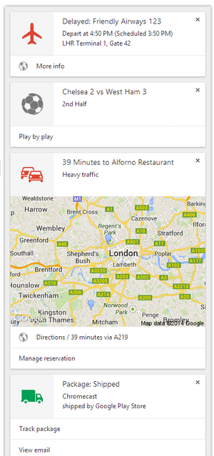 Google Now rolls out to desktop versions of Chrome, and it ...