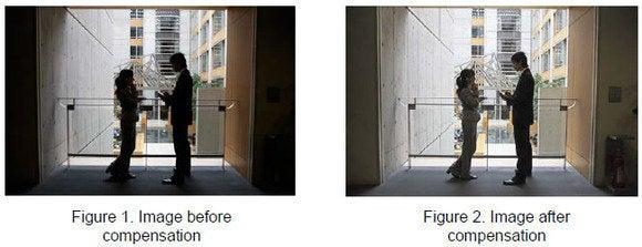 hitachi projector image compensation