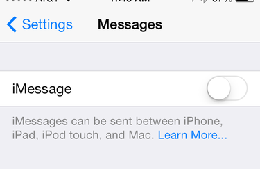 imessage disable iphone cropped