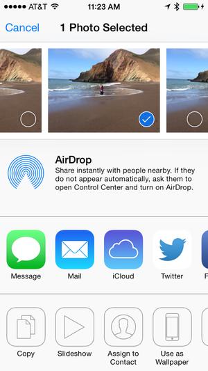 iOS photo sharing