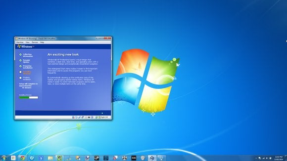 installing windows xp in virtual machine