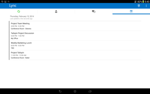 lync for android 2
