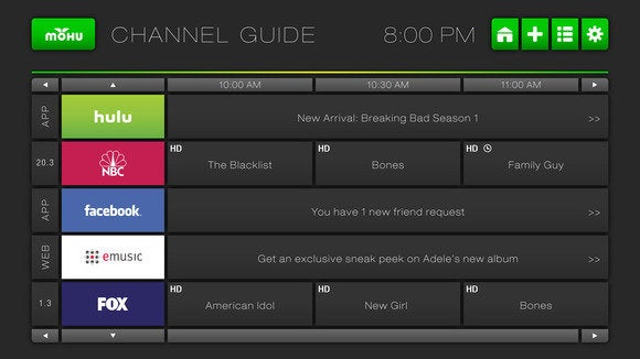mohu channel guide