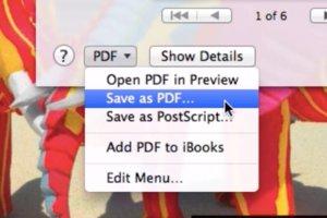 os x save as pdf 580