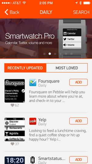 pebble appstore sub