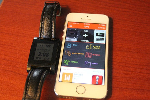 pebble with watch