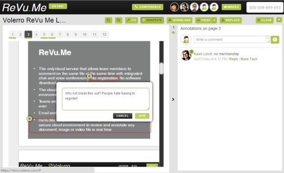 revu.me annotation screen