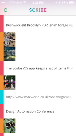 Scribe iPhone