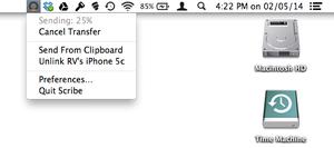 Scribe Mac menubar