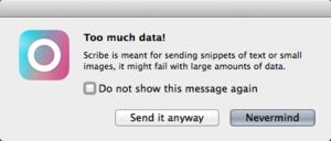 Scribe Mac warning