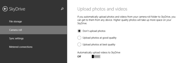 skydrive camera roll