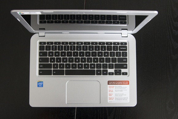 toshiba cb35 a3120 chromebook feb 2014 top view open
