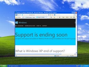 windows xp end of support warning