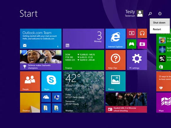 windows 81 update1 power button