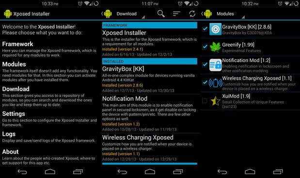 Android Xposed: tweak your phone's UI without installing