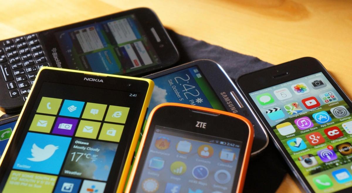 Various smartphones