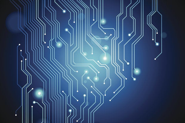 Circuit board abstract vector background 122184269