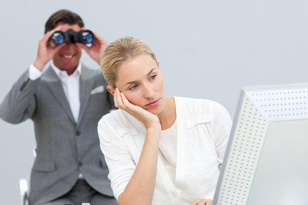 Spying with binoculars