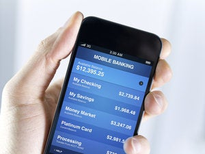 Smartphone with banking info