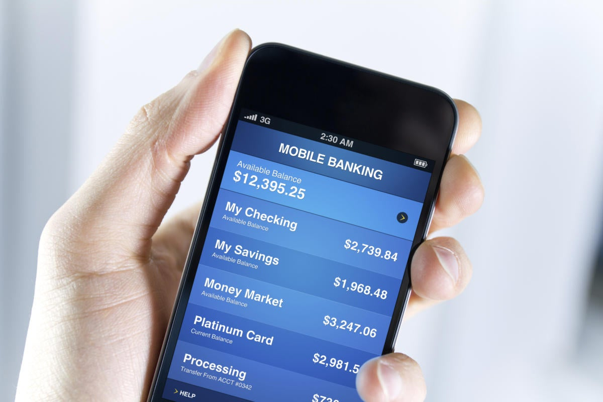Mobile banking on smartphone 160857206