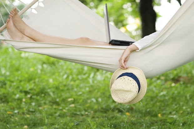 Relaxing on hammock vacation 168344861