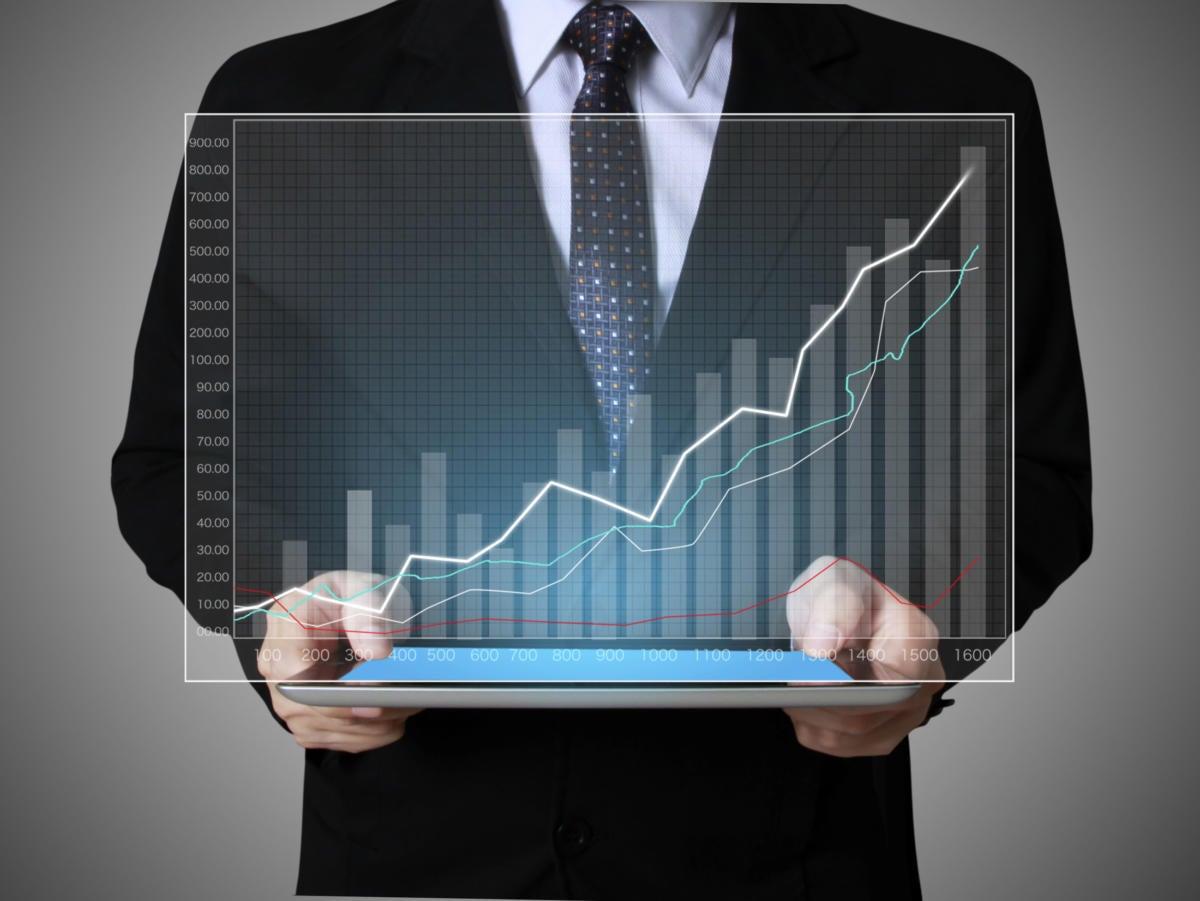 Chart data positive