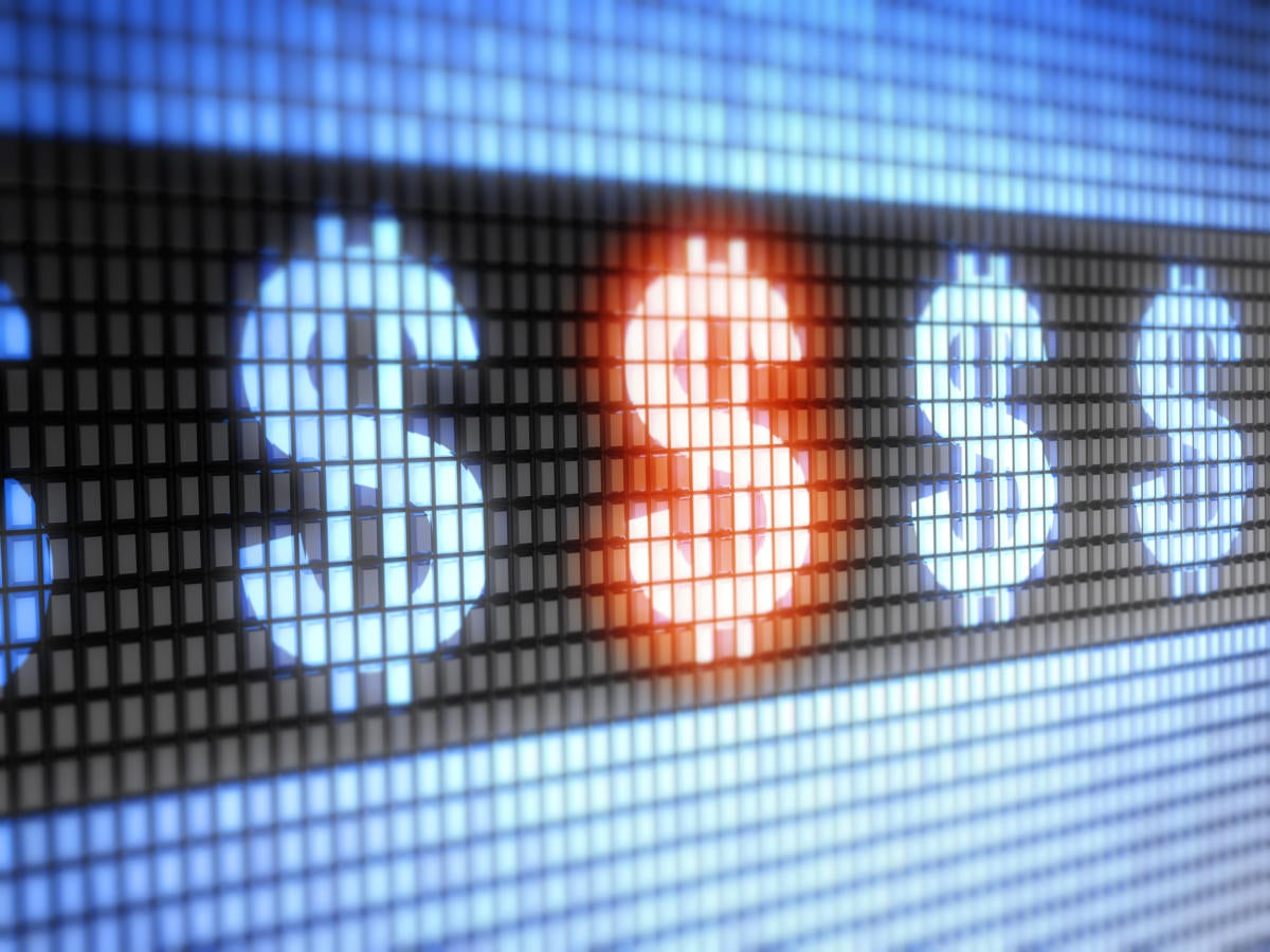 Dollar signs digital readout cash money