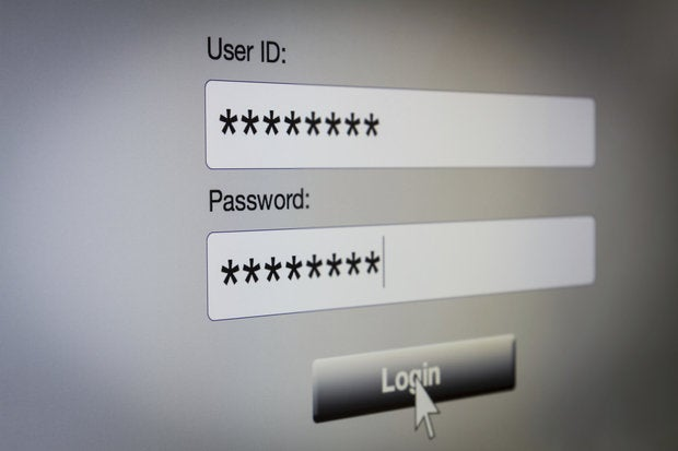 User ID Password login