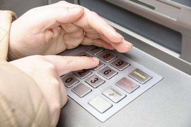 ATM data entry