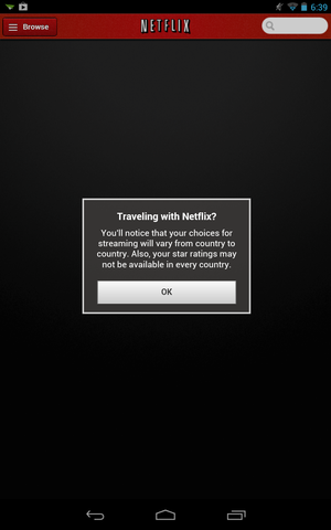 9 traveling with netflix message