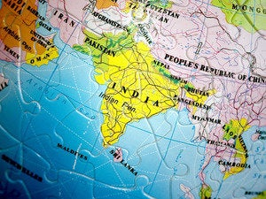 India world map